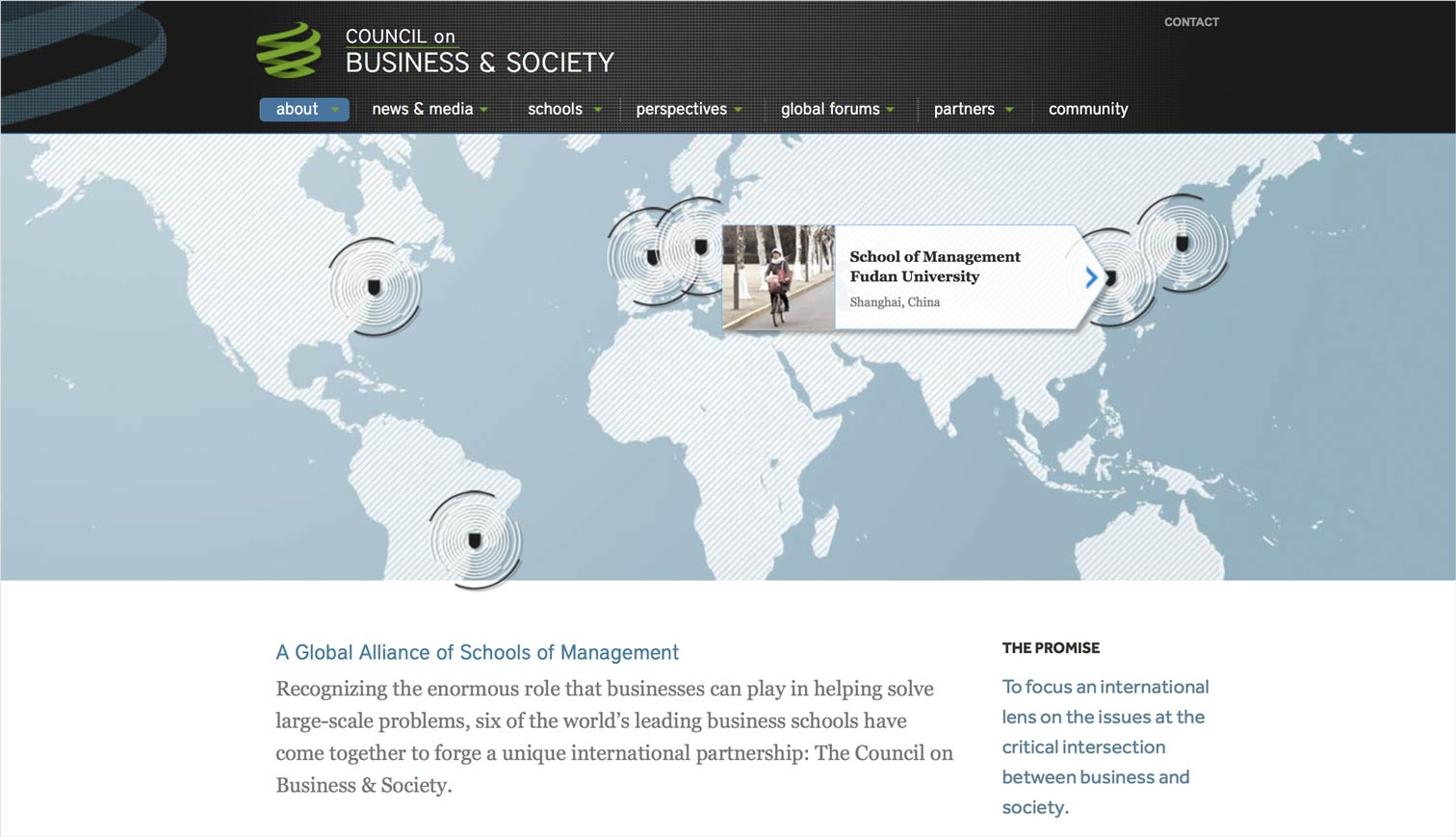 Council on Business and Society global map