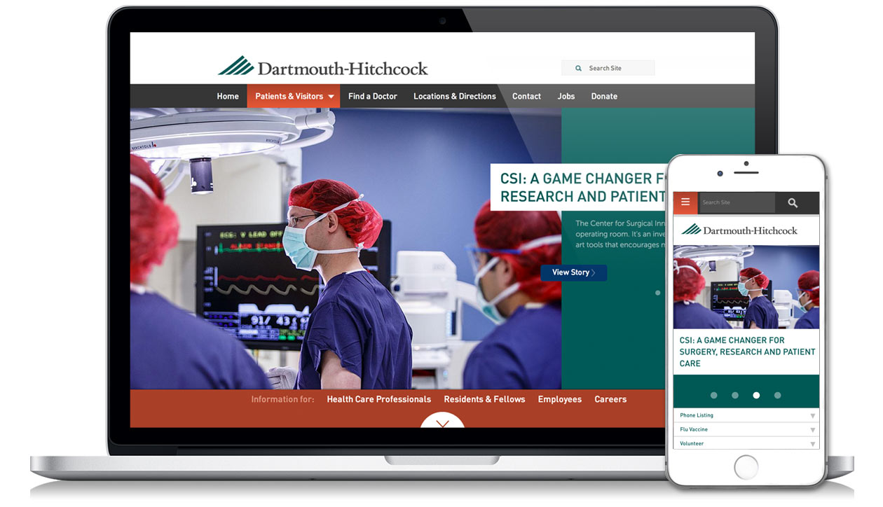 Dartmouth Hitchcock home page