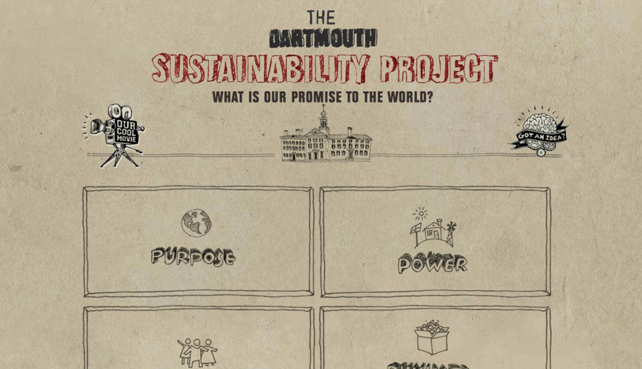 Dartmouth Sustainability website home