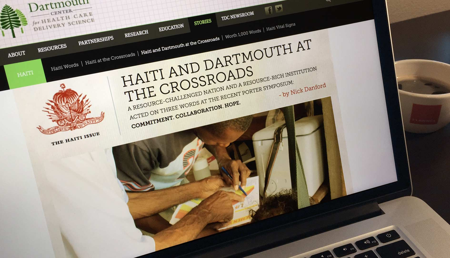 TDC story on Haiti and Dartmouth