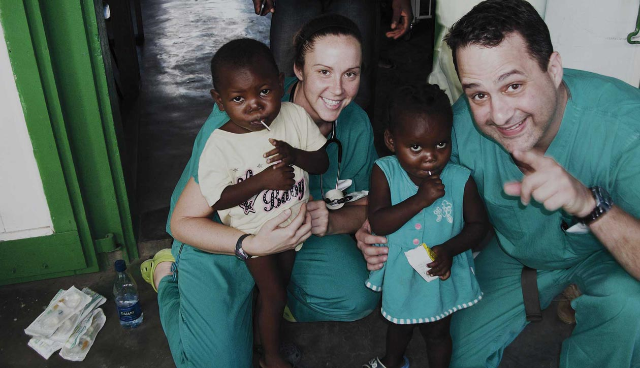 TDC students at Rwanda clinic