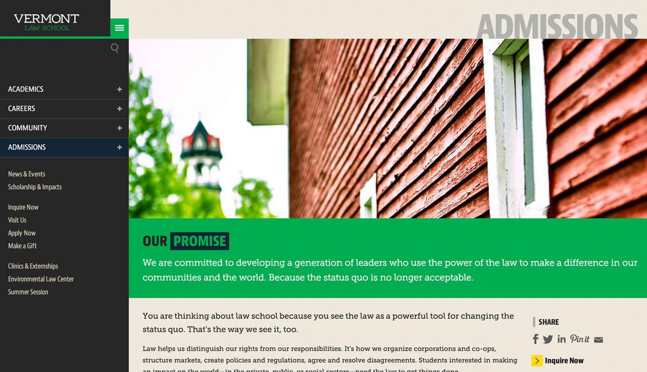 Vermont Law School Admissions