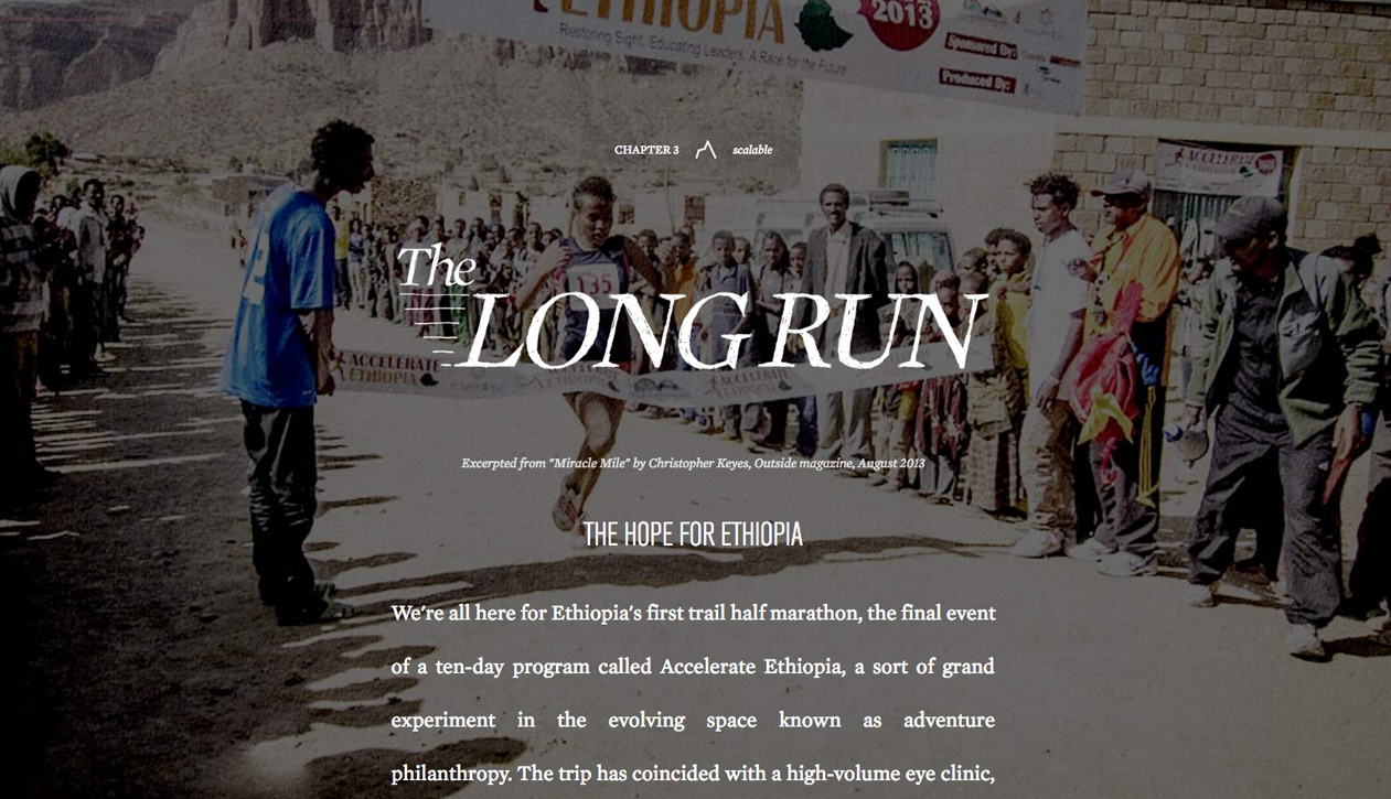 The Long Run story excerpted from Miracle Mile by Christopher Keyes, Outside Mag